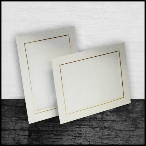 Studio Gold Easel - White
